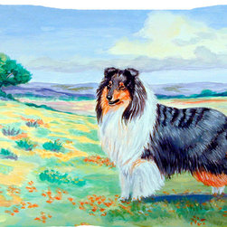 Caroline's Treasures - Collie Fabric Standard Pillowcase Moisture Wicking Material - Standard White on back with artwork on the front of the pillowcase, 20.5 in w x 30 in. Nice jersy knit Moisture wicking material that wicks the moisture away from the head like a sports fabric (similar to Nike or Under Armour), breathable performance fabric makes for a nice sleeping experience and shows quality.  Wash cold and dry medium.  Fabric even gets softer as you wash it.  No ironing required.