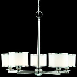 Hudson Valley Lighting - Basking Ridge Chandelier by Hudson Valley Lighting - Bright, crisp and clean light characterizes the Hudson Valley Basking Ridge Chandelier. Its soft contemporary design works well in a number of settings, providing superb illumination through its Opal glass shades. Choose from a 3-light, 5-light or 8-light design depending on the size of the room and the amount of light desired.Hudson Valley Lighting, located in Newburgh, NY, designs and manufactures vintage and contemporary lighting to exacting standards.The Hudson Valley Basking Ridge Chandelier is available with the following:Details:Drum-shaped glass shadesMetal frameRound ceiling canopy4' chainUL ListedOptions:Finish: Polished Nickel, or Satin Nickel.Number of Lights: 3 Lights, 5 Lights, or 8 Lights.Lighting:3 Lights option utilizes three 75 Watt 120 Volt Type G9 Xenon lamps (included).5 Lights option utilizes five 75 Watt 120 Volt Type G9 Xenon lamps (included).8 Lights option utilizes eight 75 Watt 120 Volt Type G9 Xenon lamps (included).Shipping:This item usually ships within 3 to 5 business days.