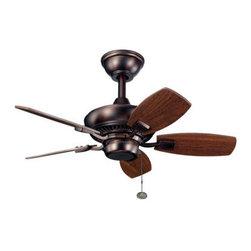 "Kichler - Kichler 300103OBB Canfield 30"" Outdoor Ceiling Fan with 5 Blades - w/6"" Downrod - Kichler 300103 Canfield 30"" Ceiling Fan"