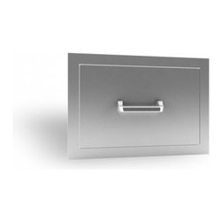 RCS Grills - RCS Grills Stainless Single Drawer - Renaissance Cooking Systems' (RCS) factory has been in the gas grill business for over 15 years.  They are an OEM supplier to many famous-brand names you already know. With their huge buying power of components and superior manufacturing capacity they are able to pass the savings and their manufacturing experience on to you - the consumer.  Every RON series grill is backed by a full lifetime warranty on the stainless cooking grids stainless housing and stainless burners. That's peace of mind. Usually the weak link in any gas grill is the ignition system. RCS ignition systems are the finest in the industry - period. Their stainless steel is premium grade 304 the finest you can buy. This high grade of stainless means you'll enjoy your Renaissance Cooking Systems grill doors drawers and accessories for many many years to come.
