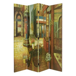 """French Quarter Screen - You'll feel like you're in Paris when you add this gorgeous room divider to your space. Set up a little bistro table in front and sip espresso while you read """"Le Monde."""""""