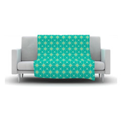 """Kess InHouse - Nicole Ketchum """"Hive Blooms"""" Fleece Blanket (50"""" x 60"""") - Now you can be warm AND cool, which isn't possible with a snuggie. This completely custom and one-of-a-kind Kess InHouse Fleece Throw Blanket is the perfect accent to your couch! This fleece will add so much flare draped on your sofa or draped on you. Also this fleece actually loves being washed, as it's machine washable with no image fading."""