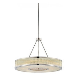 """Sonneman - Sonneman Rivoli 22"""" Pendant Light - The Rivoli 22 Pendant Light by Sonneman has been designed by Robert Sonneman. Rivoli 22 Round Pendant connects the romantic ideals of the art deco era with modern simplicity. Individual glass rods are captured in a machined ring to give them alignment creating a soft glow. Rivoli brings luxurious styling to your modern space. Finished in polished nickel and a shade of clear glass rods with patterned glass diffuser.   Product description:  The Rivoli 22 Pendant Light by Sonneman has been designed by Robert Sonneman. Rivoli 22 Round Pendant connects the romantic ideals of the art deco era with modern simplicity. Individual glass rods are captured in a machined ring to give them alignment creating a soft glow. Rivoli brings luxurious styling to your modern space. Finished in polished nickel and a shade of clear glass rods with patterned glass diffuser.    Details:      Manufacturer:     Sonneman         Designer:    Robert Sonneman        Made in:    USA        Dimensions:     Height:15"""" (38.10 cm) X Diameter:22"""" (55.88 cm) X           Canopy Diameter:5"""" (12.7 cm)             Light bulb:     8 X E12 Candelabra Max 60W Incandescent (not included)               Material:     Clear Glass Rod with Patterned Diffuser"""