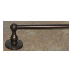"Top Knobs - Edwardian Bath 30"" Single Towel Rod - Oil Rubbed Bronze - Smooth Back Plate - Length - 32 1/2"", Projection - 3 3/8"", Center to Center - 30"", Bar Stock Diameter - 5/8"""