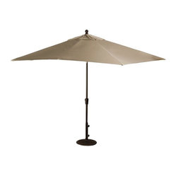 Blue Wave 8ft x 10ft Rectangular Market Umbrella - Champagne