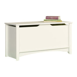 Sauder - Sauder Shoal Creek Storage Chest in Soft White Finish - Sauder - Blanket Chests - 411203 -   About The Shoal Creek Collection: