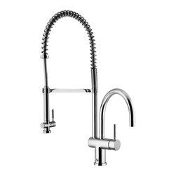 VIGO Industries - VIGO Chrome Pull-Down Spray Kitchen Faucet - This stylish and durable faucet is sure to give your kitchen sink a new look
