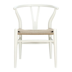 Modway - Modway EEI-552 Amish Dining Armchair in White - This dining chair features traditional wood paired with modern design, resulting in a unique piece for your home.