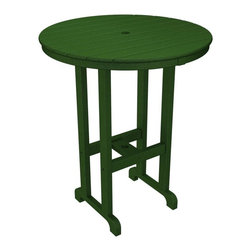 Polywood - Eco-friendly Bar Table in Green - Our classic bar height table is the perfect height for standing or sitting, not to mention a great place to hang out with friends.