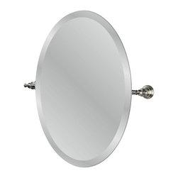 Pegasus - Pegasus Estates 24.2 in. Oval Mirror in Brushed Nickel (20720-4504) - Estates 24.2 in. Oval Mirror in Brushed Nickel