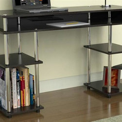 Convenience Concepts - No Tools Student Desk - Lots of storage space. Economical yet durable. Stainless steel poles. Perfect desk for any student. Limited warranty. Made from painted wood. Black finish. Assembly required. 47.2 in. W x 15.7 in. D x 30 in. H (44 lbs.)
