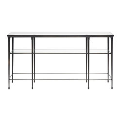 Hardin Sofa Table / Glass Top