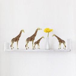My Wonderful Walls - Miniature Giraffe Wall Stickers - - Set of 4 miniature giraffe sticker decals