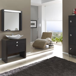 "Macral vanity cabinet bathroom 32"". Wenge. - Made in Spain."