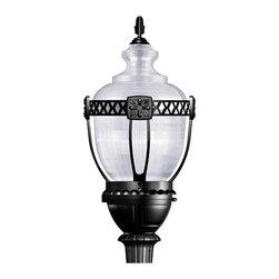 YOSEMITE HOME DECOR - 1 Light Street Light Series in Black - - 18 Inch Commercial Street Lamp 75-Watt High Pressure Sodium