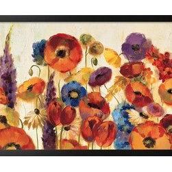 Artcom - Joyful Garden by Silvia Vassileva - Joyful Garden by Silvia Vassileva is a Framed Art Print set with a SOHO Thin wood frame.