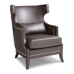 Sunpan - Calcutta Chair, Brown - Contemporary armchair combines comfort with dramatic design
