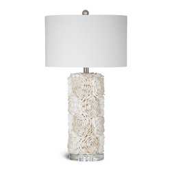 Bassett Mirror - Shell Table Lamp - Intricate, delicate and elegant.  Three words that only begin to describe the elaborate shell mosaic detailed on this stunning table lamp.  As a conversation piece and a functional light, this lamp is sure to add a unique accent to any room.
