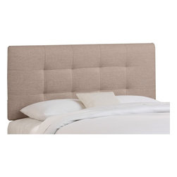 Skyline Furniture - Tufted Groupie Headboard - 270TGRPGNMTL - Shop for Headboards and Footboards from Hayneedle.com! We're practically groupies for the Tufted Groupie Headboard and it's easy to see why. Fully padded this headboard has stylish tufts worked into the polyester blend groupie fabric. What's groupie? It's a thick textured fabric used on sofas curtains and other furniture that's part-retro part-modern and all style. The included metal legs attach to your standard bed frame. Just choose your size and your favorite fabric color and go gaga for groupie. Spot clean only.Headboard Dimensions:Twin: 41W x 4D x 51H inchesFull: 56W x 4D x 51H inchesQueen: 62W x 4D x 51H inchesKing: 78W x 4D x 51H inchesCalifornia King: 74W x 4D x 51H inchesAbout Skyline Furniture Manufacturing Inc.Skyline Furniture was founded in 1948 with the goal of producing stylish affordable quality furniture for the home. After more than 50 years this family-run business is still designing and manufacturing unique products that meet the ever-changing demands of the modern home furnishing industry. Located in the south suburbs of Chicago the company produces a wide variety of innovative products for the home including chairs headboards benches and coffee tables.