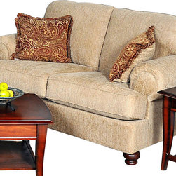 Chelsea Home Furniture - Chelsea Home Palm Loveseat in Christo Tan - Palm loveseat in Christo Tan belongs to Benchmark collection by Chelsea Home Furniture.