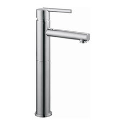 Design House - Geneva Vessel Lavatory Faucet (Polished Chrom - Color: Polished ChromeIncludes pop-up for sealing drain. Brass waterways. Ceramic disc cartridge. 4 in. center mount. 0.25 in. quarter turn stop. Single handle configuration. 1.3 gallon per minute at 60 PSI flow rate. 3.75 in. spout reach. UPC, cUPC, ASME, ANSI, ADA, NSF, lead-free, AB-1953, water sense compliant. Made from brass and zinc. Polished chrome color. 21 in. W x 7.3 in. D x 13.2 in. H. Warranty. Installation InstructionsThe brass waterways contain zinc and copper which are known to prevent antimicrobial growth ensuring safe and clean water for your family. This faucet has a sleek, modern style with a high-vaulted spout to turn any bathroom into a luxurious pamper room. With the water sense label, this faucet is a water-efficient product and certified to meet EPA water sense criteria for efficiency and performance. this product adheres to industry leading practices and standards.