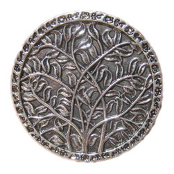 DaRosa Creations - Drawer Knobs With Tree Pattern In Silver - Drawer Knobs - Cabinet Knobs with Tree Pattern in Silver (MK144)