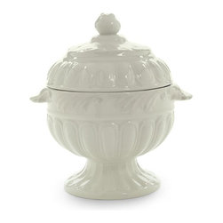Lenox - Lenox Butlers Pantry Sugar - 6098529 - Shop for Condiment Supplies from Hayneedle.com! The Lenox Butlers Pantry Sugar will grace your table with elegance and luxury. Designed with a sculpted finial lid and a bowl with beautiful fluted motif this gorgeous sugar bowl is crafted from durable stoneware and is oven- and microwave-safe at low temperatures. Made to coordinate with almost any decor this sugar bowl is perfect for serving your guests when it's time for tea and coffee.About Lenox CorporationLenox Corporation is an industry leader in premium tabletops giftware and collectibles. The company markets its products under the Lenox Dansk and Gorham brands propelled by a shared commitment to quality and design that makes the brands among the best known and respected in the industry. Collectively the three brands share 340 years of tabletop and giftware expertise.