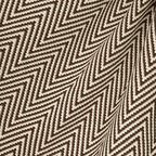 Big Zig : Brown - Brown knit chevron fabric.