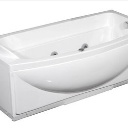 Aston Global - Aston Global MT601-R Whirlpool Bath Tub - 6 directional, hydro-massage body jets powered by a 1.2 cHP pump