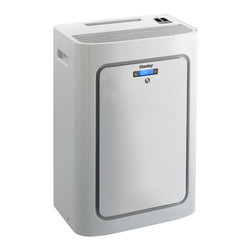 """Danby - 8,000 BTU Portable Air Conditioner - Get ready for summer with this 8000 BTU cooling capacity portable air conditioner. With a coverage area of 250 sq. ft. this air conditioner is perfect for your living room. 8000 BTU cooling capacity, Cools areas up to 250 sq. ft. based on the conditions, 45 pint capacity per 24 hours with direct drain feature, Environmentally friendly R410A refrigerant, Electronic controls with remote and LED display, 3 fan speeds, Auto on/off: Have the unit start or stop to meet your schedule, Single hose design: efficiently exhausts warm humid air outside, Reusable air filter. Unit dimensions 17 5/16"""" W x 12"""" D x 27 3/16"""" H"""