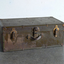 Vintage Military Trunk by CoMod Classics - Store your belongings in style in this vintage military trunk.