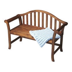 Butler Furniture - Windsor Style Cinnamon Wood Bench - Add clean, contemporary style to any space with this arched back Windsor-inspired bench. Expertly crafted from solid mindy hardwood in a rich Cinnamon finish, it is a great addition to an entryway, hallway, dining room or wherever extra seating is needed.