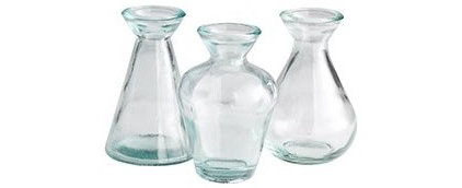 Eclectic Vases Mini Recycled Glass Vases