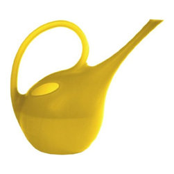 Plastec Yellow Watering Can - I love the playful pod-like shape and cheery hue of this can!