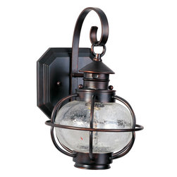 Maxim Lighting - Maxim Lighting 30502CDOI Portsmouth 1 Light Outdoor Wall Lights in Oil Rubbed Br - Portsmouth is a traditional, early American style collection from Maxim Lighting International in Oil Rubbed Bronze finish with Seedy glass.