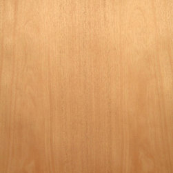 Flat Cut African Mahogany Veneer. - Flat cut African mahogany veneer is a nice pinkish brown to reddish brown medium grain wood with excellent staining and finishing qualities. Available in a variety of backers and sizes.