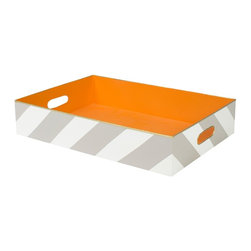 Stray Dog Designs - Stray Dog Designs Chelsea Tray-Stone Harbor - Our tole Chelsea Tray has spunk. Available in three extra fun color combos, Chelsea is hand crafted and hand painted tin. Corral your  treasures in the Chelsea.See our other color choices