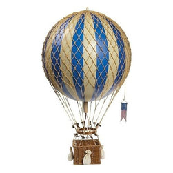 Royal Aero Hot Air Balloon, Blue - Rather than select a traditional mobile, I opted for a model hot air balloon!