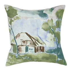 Rizzy Home - Rizzy Home Watercolor House Scene Decorative Throw Pillow Multicolor - T05636 - Shop for Pillowcases and Shams from Hayneedle.com! With the Rizzy Home Watercolor House Scene Decorative Throw Pillow you don't have to restrict your artwork to the walls. A charming accent pillow this one has a 100% cotton cover printed with a beautiful watercolor design. It includes a plump removable insert and features a hidden side zipper. To clean simply remove the cover and machine wash in cold water. Lay flat to dry.About Rizzy HomeRizwan Ansari and his brother Shamsu come from a family of rug artisans in India. Their design color and production skills have been passed from generation to generation. Known for meticulously crafted handmade wool rugs and quality textiles the Ansari family has built a flourishing home-fashion business from state-of-the-art facilities in India. In 2007 they established a rug-and-textiles distribution center in Calhoun Georgia. With more than 100 000 square feet of warehouse space the U.S. facility allows the company to further build on its reputation for excellence artistry and innovation. Their products include a wide selection of handmade and machine-made rugs as well as designer bed linens duvet sets quilts decorative pillows table linens and more. The family business prides itself on outstanding customer service a variety of price points and an array of designs and weaving techniques.