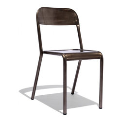 Industry West - Freshman Chair - Modeled after an antique Schoolhouse chair from the early 20th century, The Freshman Chair from our Schoolhouse Collection is perfect for any office or dining table. Its clean lines and slim, airy profile are beautifully rendered in grade A steel and hand-finished to showcase hand-welded seams. Each piece is individually finished for a complete original, every time.