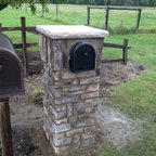 Products & Services - We used the extra stone that we had from her house to beautify her mailbox