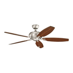 """Kichler - Kichler 300105NI Whitmore 60"""" Indoor Ceiling Fan with 5 Blades and a 4"""" Downrod - Kichler 300105 Whitmore Ceiling Fan"""