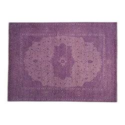 1800-Get-A-Rug - 100% Wool Purple Overdyed Serapi Heriz Oriental Rug Hand Knotted Sh19368 - 100% Wool Purple Overdyed Serapi Heriz Oriental Rug Hand Knotted Sh19368