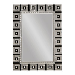 Clear-Black Modern Rectangle Wall Mirror