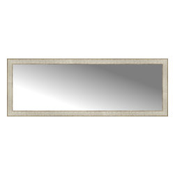 """Posters 2 Prints, LLC - 56"""" x 20"""" Libretto Antique Silver Custom Framed Mirror - 56"""" x 20"""" Custom Framed Mirror made by Posters 2 Prints. Standard glass with unrivaled selection of crafted mirror frames.  Protected with category II safety backing to keep glass fragments together should the mirror be accidentally broken.  Safe arrival guaranteed.  Made in the United States of America"""
