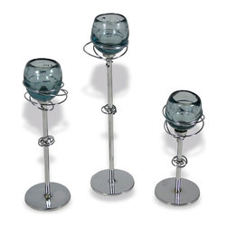 Mathews & Company - Gyro Iron Candle Holders with Glass Set of 3 - Our overview of the new Gyro Iron Candle Holders with Glass Set of 3 is on its way but you can still purchase this wonderful piece for your living quarters today. If you have questions about the product just drop a line or send us an email!