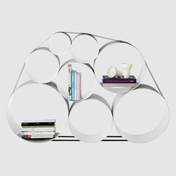 Oto100 Muuto Bookshelf - For people who move often, large and heavy pieces of furniture (I'm looking at you, bookshelves!) are no good. Stick to smaller pieces that pack easily, like this clever storage unit. Take off the strapping and the circles stack inside each other for easy packing.
