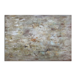 Uttermost - Uttermost 34267 Middle - 70 Abstract Decorative Art Hand-Paint Finish - Frameless, hand painted artwork on canvas that has been stretched and attached to wooden stretching bars. Due to the handcrafted nature of this artwork, each piece may have subtle differences.