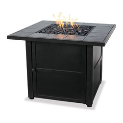 UniFlame Square Gas Fire Pits - Fire pits have evolved from caves and campsites to become a central part of modern day outdoor living.