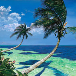 Murals Your Way - Beckoning Palms Wall Art - Painted by Scott Westmoreland, the Beckoning Palms wall mural from Murals Your Way will add a distinctive touch to any room